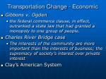 transportation change economic4