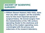 ascent of scientific surgery