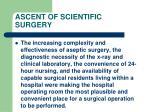 ascent of scientific surgery100
