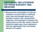 historical relationship between surgery and medicine13