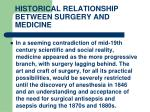 historical relationship between surgery and medicine14