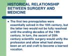 historical relationship between surgery and medicine18
