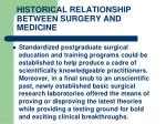 historical relationship between surgery and medicine19