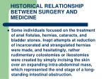 historical relationship between surgery and medicine5