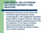 historical relationship between surgery and medicine6