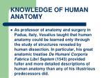 knowledge of human anatomy22
