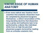 knowledge of human anatomy24