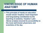 knowledge of human anatomy25