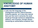 knowledge of human anatomy26