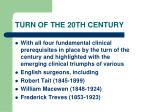 turn of the 20th century74