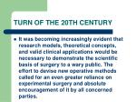 turn of the 20th century82