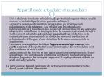 appareil ost o articulaire et musculaire