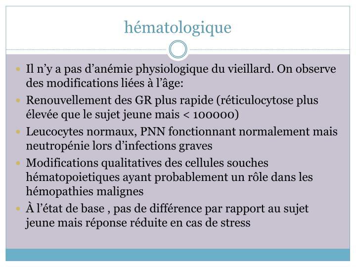 hématologique