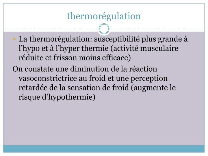 thermorégulation