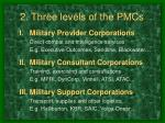 2 three levels of the pmcs