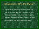 introduction why the pmcs
