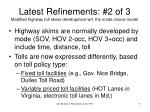 latest refinements 2 of 3 modified highway toll skims development wrt the mode choice model