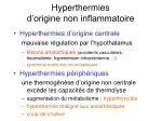 hyperthermies d origine non inflammatoire31