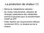 la production de chaleur 1