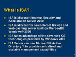 what is isa