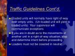 traffic guidelines cont d