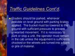 traffic guidelines cont d4