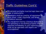traffic guidelines cont d5