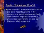 traffic guidelines cont d6