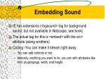 embedding sound