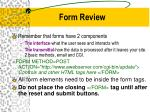 form review