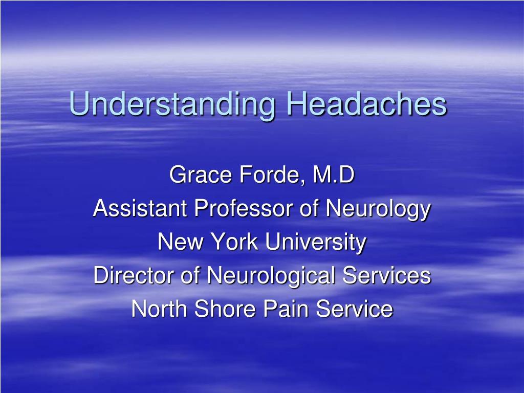 understanding headaches l.
