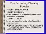 post secondary planning booklet