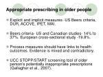 appropriate prescribing in older people4