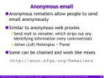 anonymous e mail