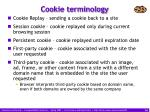 cookie terminology