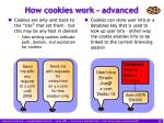 how cookies work advanced