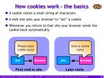 how cookies work the basics