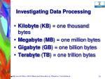investigating data processing24