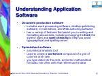 understanding application software62