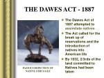 the dawes act 1887
