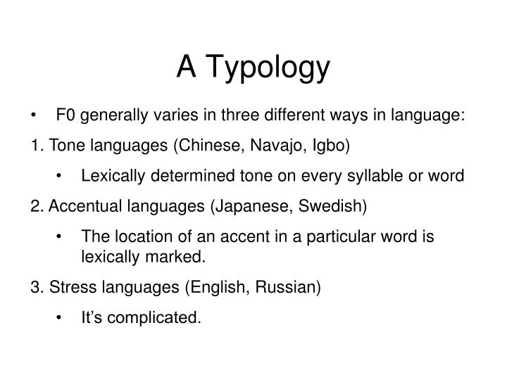 A Typology