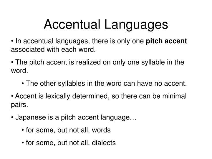 Accentual Languages