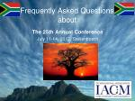 frequently asked questions about