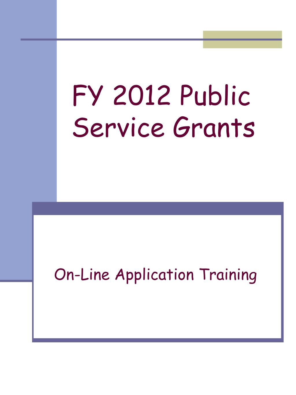 fy 2012 public service grants l.