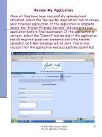 review my application