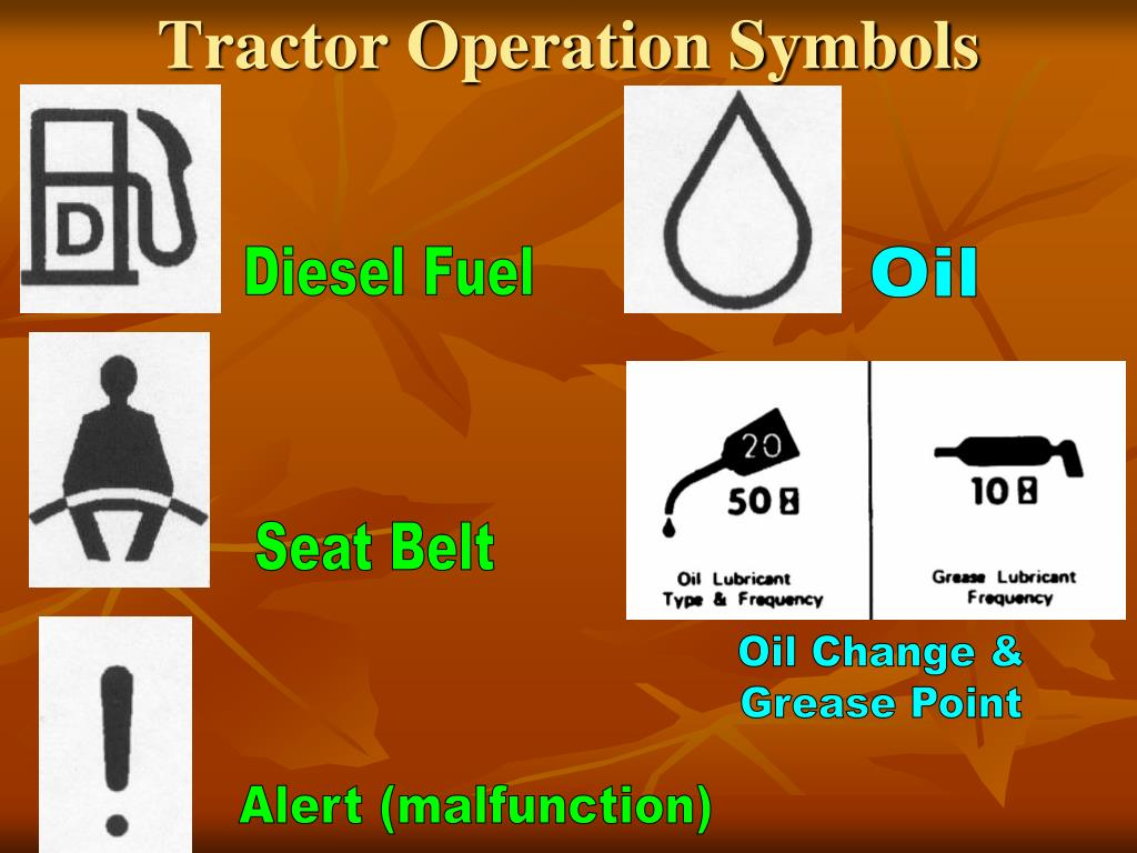tractor operation symbols l.