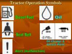 tractor operation symbols
