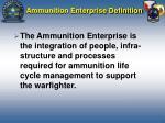 ammunition enterprise definition