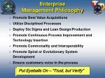 enterprise management philosophy