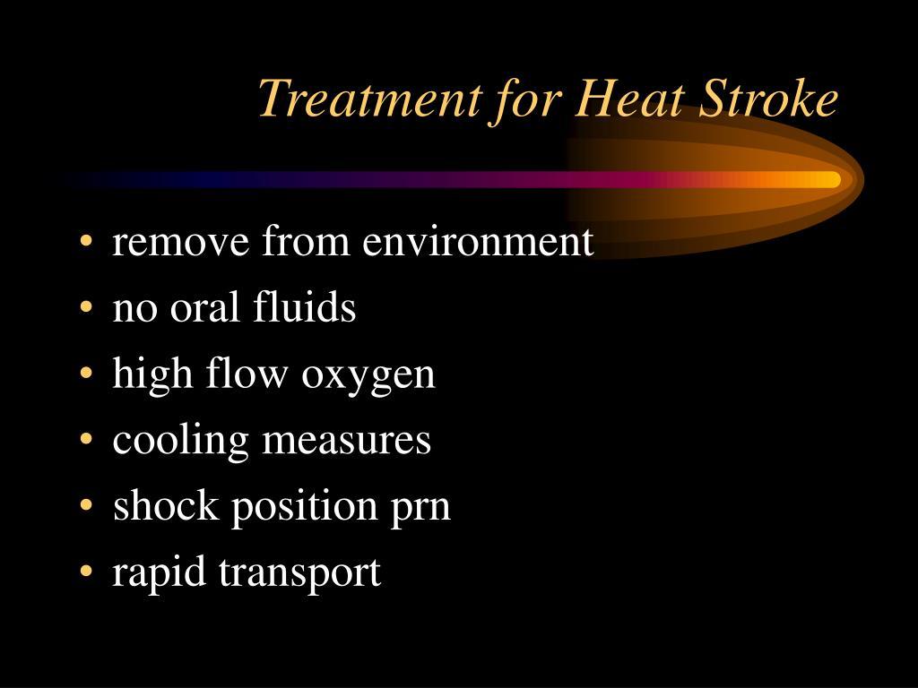 Treatment for Heat Stroke